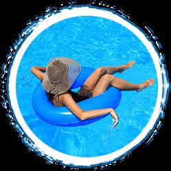 Protección en la piscina